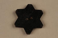 1991.135.1 back Star of David button used to identify a Bulgarian Jew  Click to enlarge