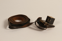2004.611.2 a front Set of tefillin owned by a Hungarian Jewish concentration camp survivor  Click to enlarge