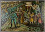 Autobiographical painting created postwar by a former concentraton camp inmate
