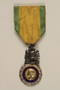 French Médaille Militaire with ribbon awarded to a German Jewish resistance fighter