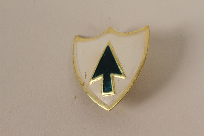 Set of US Army 26th Infantry Regiment lapel pins acquired by US