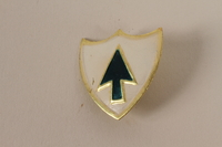 2011.75.15_a front Set of US Army 26th Infantry Regiment lapel pins acquired by US soldier  Click to enlarge