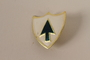Set of US Army 26th Infantry Regiment lapel pins acquired by US soldier