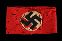1991.139.7 front Nazi Party armband with swastika  Click to enlarge