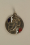 French Deaf-Mute National Cup basketball medal awarded to a German Jewish athlete