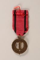 2007.228.2_a back Pametni Medaile Ceskoslovenska Armada V Zahranici (Czechoslovak Army Abroad) awarded to a Czech Jewish soldier  Click to enlarge