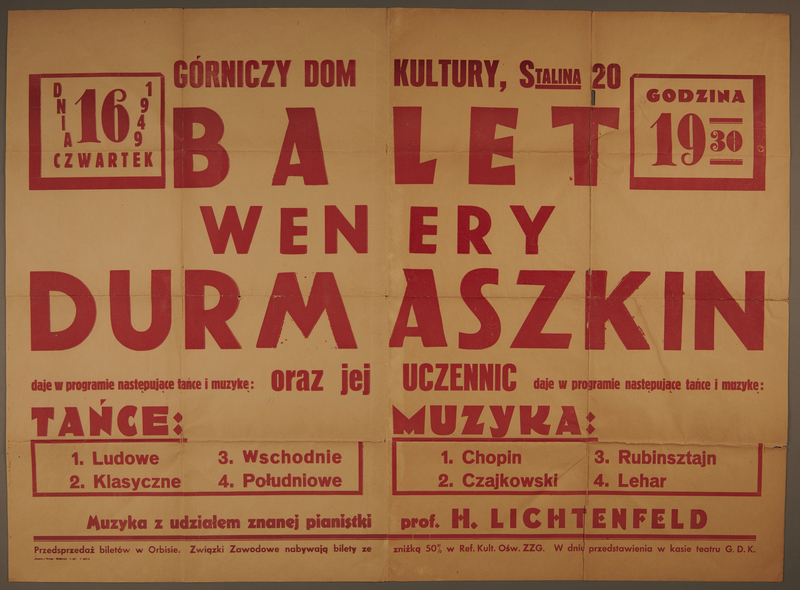 2008.385.1 front Text only poster for a performance by St. Ottilien DP orchestra