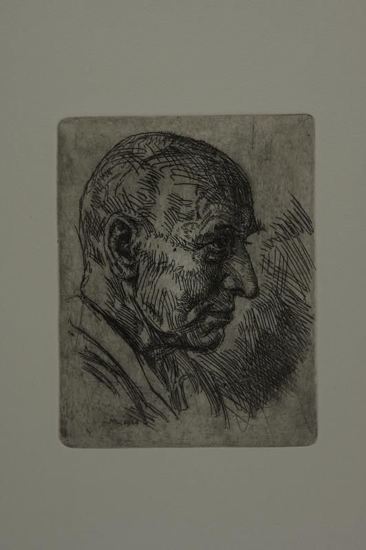 1991.151.10 front Lithograph portrait of Professor Xawety Dunikowski