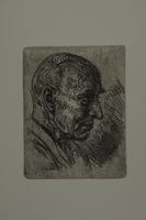 1991.151.10 front Lithograph portrait of Professor Xawety Dunikowski  Click to enlarge