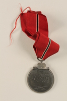 2002.327.7 back German Eastern Winter Campaign medal  Click to enlarge