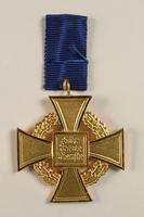 2002.327.15 back Civil Service Faithful Service Cross medal  Click to enlarge