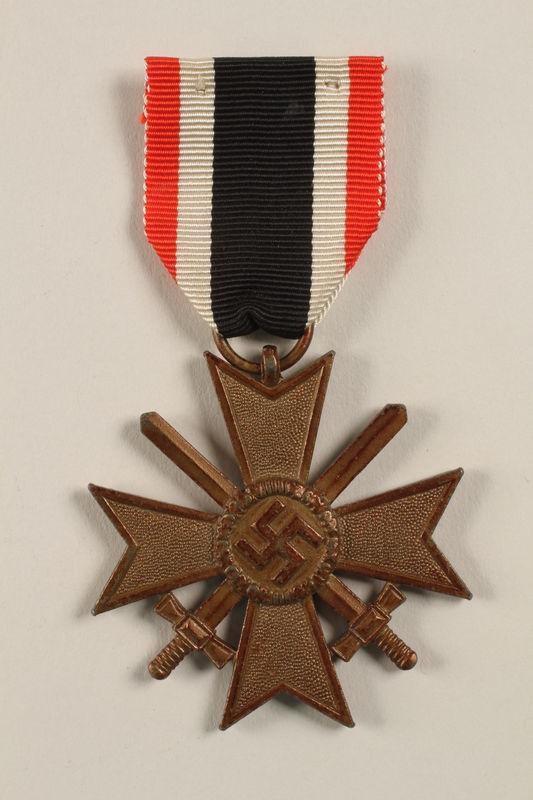 2002.327.18 front War Service Cross Medal