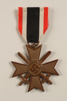 2002.327.18 front War Service Cross Medal  Click to enlarge
