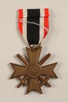 2002.327.18 back War Service Cross Medal  Click to enlarge