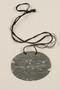 World War I German issue dog tag worn by a Jewish soldier