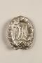DRL Sport Badge, silver grade with swastika, owned by German Jewish refugee