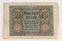 Weimar Germany, 100 mark note, saved by German Jewish refugee