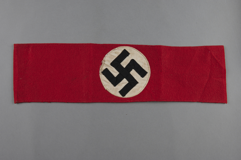 2006.398.2 front Nazi armband owned by a deaf Jewish refugee to Shanghai