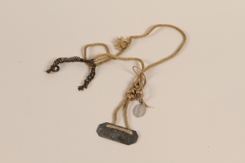 2006.355.2 front Necklace of found materials made in a camp by an Austrian Jewish woman