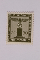2005.375.4 front Postage stamp, 30 pfennig, from the Official Series of 1938 issued by Nazi Germany  Click to enlarge