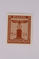 2005.375.9 front Postage stamp, 24 pfennig, from the Official Series of 1938 issued by Nazi Germany  Click to enlarge