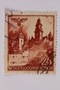 Postage stamp, 24 zloty, featuring Wawel Castle, Krakow, issued in German occupied Poland