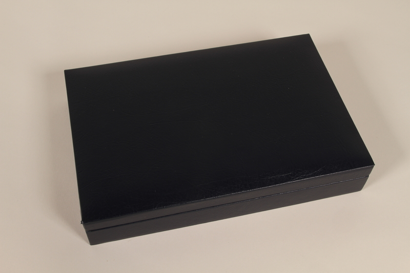 1998.48.3 closed Presentation box for spoons recovered at Belzec killing center