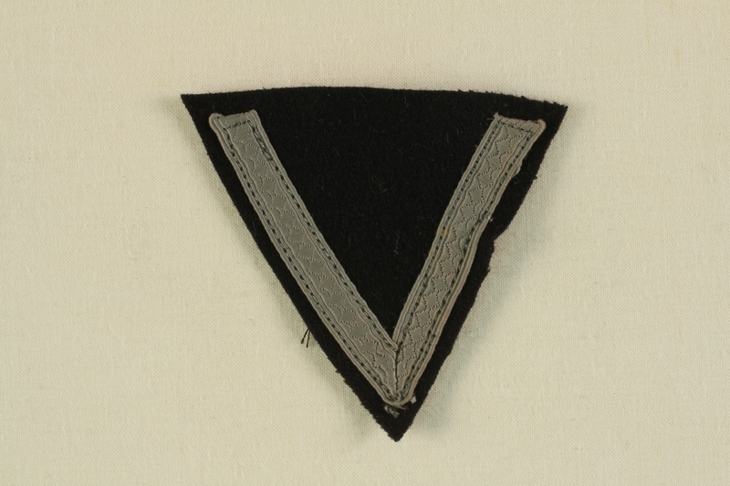 2003.112.2 front Unused Waffen SS sleeve chevron acquired postwar by a US soldier