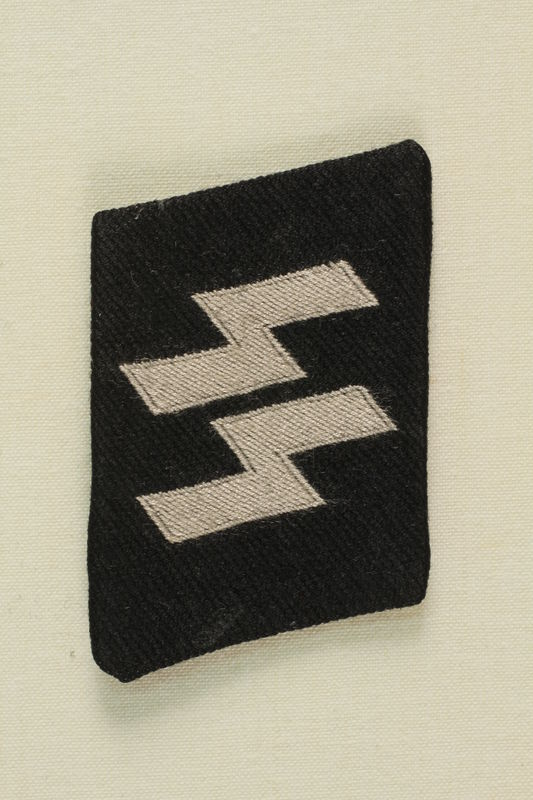 2003.112.16 front Unused Waffen-SS collar tab acquired postwar by a US soldier