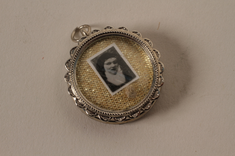 2001.62.9 closed Religious medallion with an image of Dr. Edith Stein