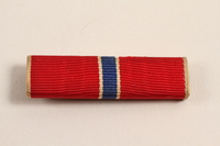 2003.149.7 front Bronze Star ribbon bar awarded to a Jewish German US soldier  Click to enlarge