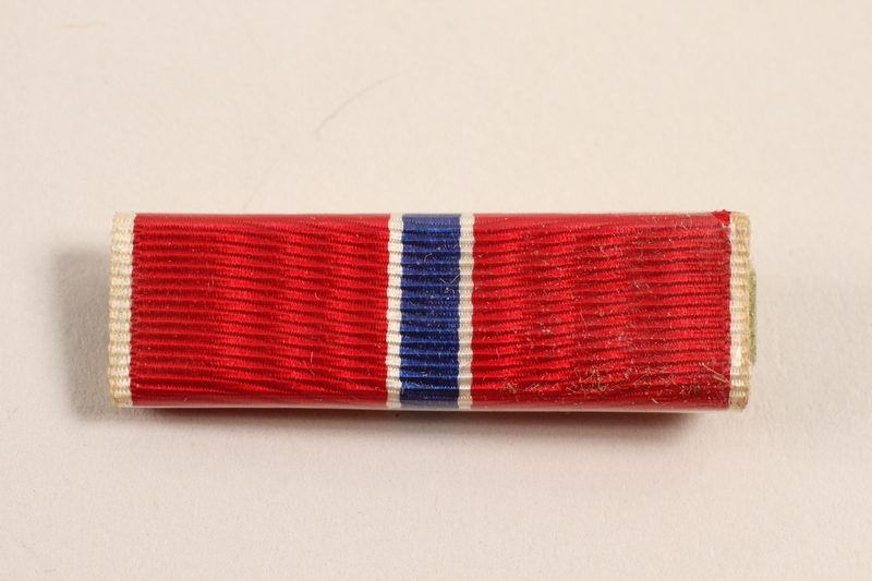 2003.149.8 front Bronze Star ribbon bar awarded to a Jewish German US soldier