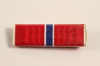2003.149.8 front Bronze Star ribbon bar awarded to a Jewish German US soldier  Click to enlarge