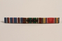 Ribbon bar with 3 campaign ribbons issued to a Jewish German US soldier