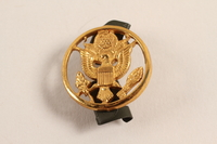 2003.149.12 front Great Seal of US lapel pin worn by a Jewish German US soldier  Click to enlarge