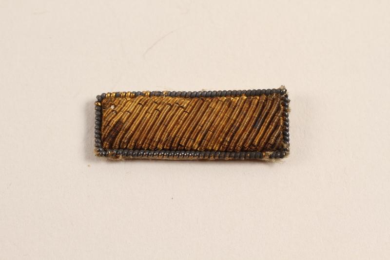 2003.149.17 front Second Lieutenant's bullion patch worn by a Jewish German US soldier