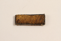 2003.149.17 front Second Lieutenant's bullion patch worn by a Jewish German US soldier  Click to enlarge