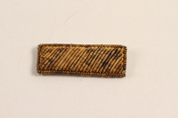 2003.149.18 front Second Lieutenant's bullion patch worn by a Jewish German US soldier  Click to enlarge