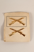 2003.149.26.1 front Infantry service lapel pin worn by a German Jewish US soldier  Click to enlarge
