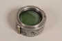 Plaubel camera lens hood with green filter and case used by German Jewish US soldier