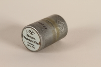 2003.149.47_a-b closed Agfa metal film canister used by a German Jewish US soldier  Click to enlarge