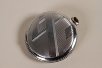 2003.149.61 back Art Deco silver pocket watch owned by German Jewish US emigre and soldier  Click to enlarge