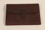 Brown leather document wallet used by German Jewish US soldier