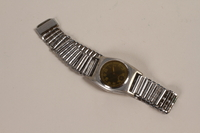 2003.149.66 front Stainless steel wrist watch owned by German Jewish emigre and US soldier  Click to enlarge