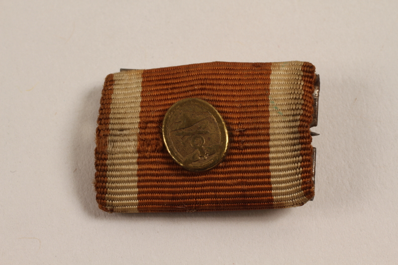2003.149.76 front Ribbon bar award for construction of the German West Wall acquired by German Jewish US soldier