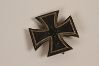 2003.149.77 front Iron Cross, 1st class, medal from WWII acquired by a Jewish German emigre and US soldier  Click to enlarge