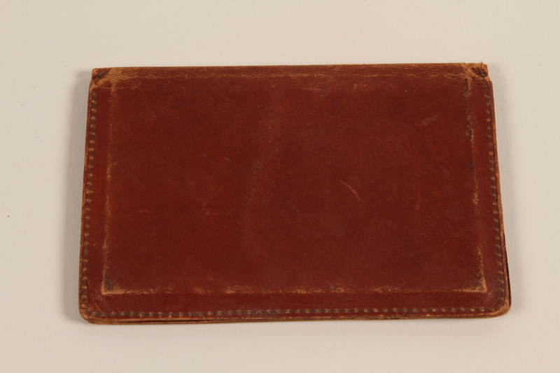 2011.395.4 front Leather document holder with CIC credentials used by a Jewish American soldier