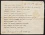 Purim note, Wadowice, Poland, February 1945