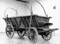 Romani Wagon Collection Image, 1991.166.1 Romani traveling wagon from prewar Czechoslovakia  Click to enlarge