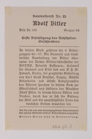 2012.68.7 back Cigarette card phot of Hitler and Goering reviewing papers  Click to enlarge